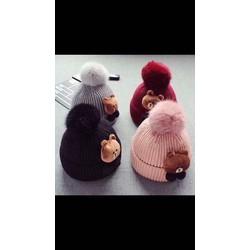 Mũ len gấu cho bé trai và gái