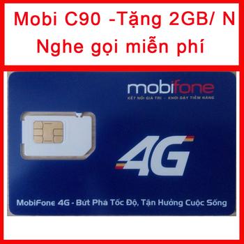 Sim 4G Mobifone C90 Tặng 2GB 1 Ngày Nghe Gọi Miễn Phí