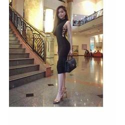 Đầm Body ĐAN DÂY HÔNG