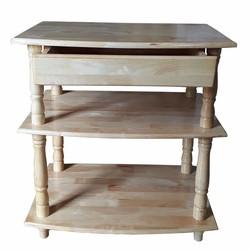 Kệ tivi 3 tầng cao 65cm bằng gỗ màu gỗ tự nhiên