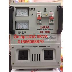 Ổn áp LiOA 5KVA dải 130V-250v thế hệ mới dây đồng nguyên chất