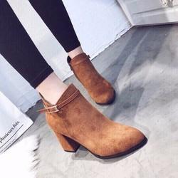 Giày boot cổ ngắn da lộn