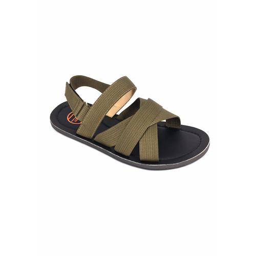 Giày Sandal Nam Quai Chéo Vàng Rêu A359
