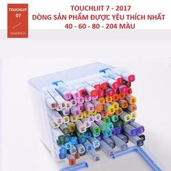 Bộ 40 màu Marker TOUCH LIIT 7 hộp nhựa có quà tặng