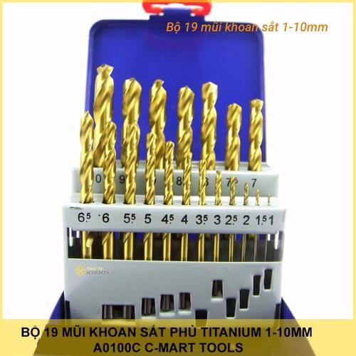 Bộ 19 mũi khoan sắt c-mart - 18939340 , 8060874 , 15_8060874 , 399000 , Bo-19-mui-khoan-sat-c-mart-15_8060874 , sendo.vn , Bộ 19 mũi khoan sắt c-mart