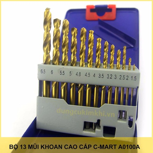 Bộ 13 mũi khoan sắt c-mart - 18939338 , 8060672 , 15_8060672 , 199000 , Bo-13-mui-khoan-sat-c-mart-15_8060672 , sendo.vn , Bộ 13 mũi khoan sắt c-mart