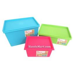 Bộ 3 thùng nhựa cao cấp Standard size S-M-L