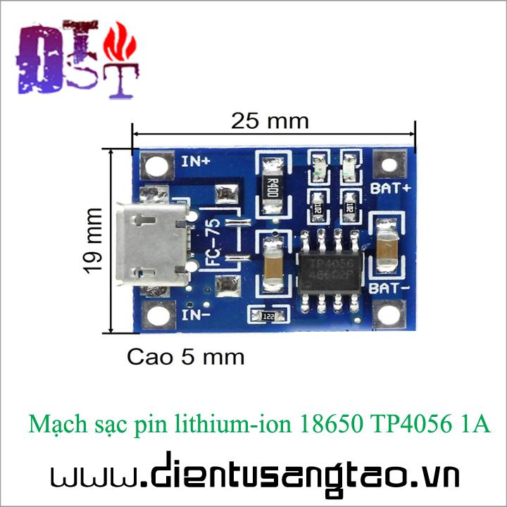 Mạch sạc pin lithium-ion 18650 TP4056 1A -Combo 5 chiếc 5