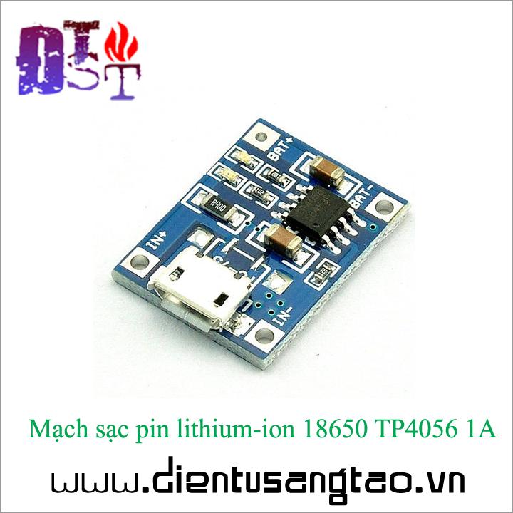 Mạch sạc pin lithium-ion 18650 TP4056 1A -Combo 5 chiếc 4