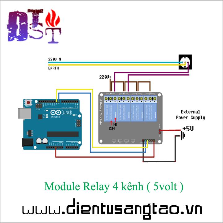 Module Relay 4 kênh -  5volt 3