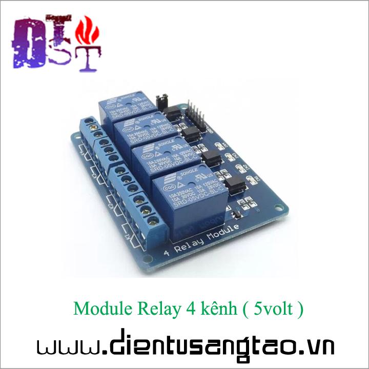 Module Relay 4 kênh -  5volt 4