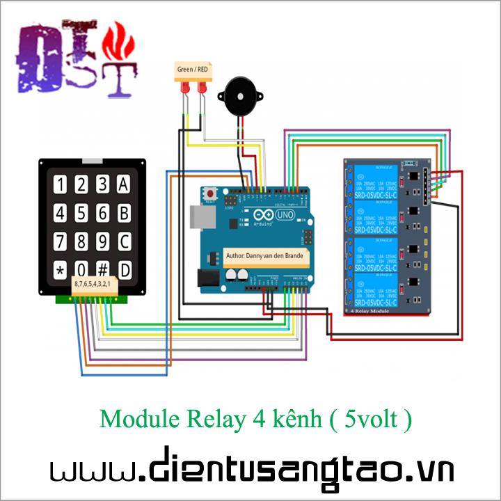 Module Relay 4 kênh -  5volt 2