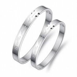 Vòng tay đôi inox màu bạc - XMI03