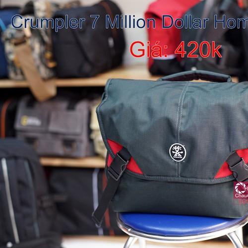 Túi máy ảnh Crumpler Seven Million Dollar Home Có ngăn đựng iPad
