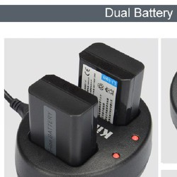 Dual Battery Charger for NP FW50