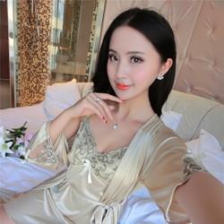 Set áo choàng kèm đầm ngủ DN337