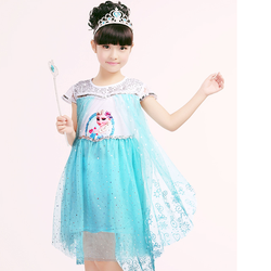 Đầm công chúa Elsa  +  2 phụ kiện