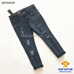 Quần jean rách màu đen