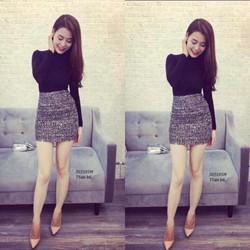 Sét áo thun tay dài + chân váy siêu xinh