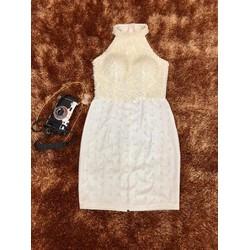 Đầm ôm thiết kế kết hạt ngực