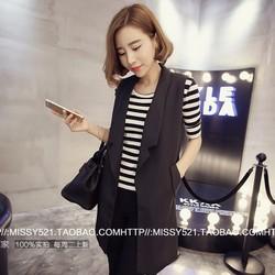 Áo khoác gile dáng dài kiểu Hàn Quốc - 5809 - Hàng Nhập