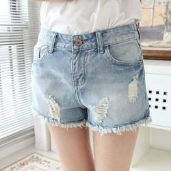 hàng nhập quần shorts jean mài rách QJ43