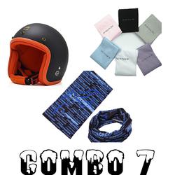 Combo mũ bảo hiểm phượt 07