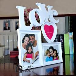 Khung Ảnh Tình Yêu Chữ Love Trái Tim