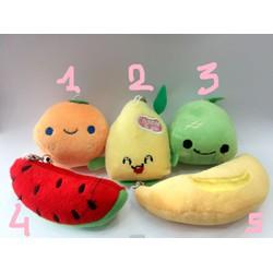 Móc khoá nhồi bông trái cây