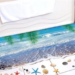 Decal Dán Sàn Nhà Bãi Biển 3D