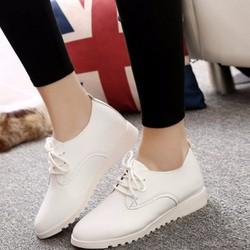 Giày nữ Oxford ZANI ZWG7088W - Màu trắng