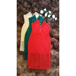 Đầm ôm thiết kế cúp ngực kết hạt