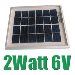 Pin năng lượng mặt trời Solar Panel 6V - 2W - Khung đóng sẵn
