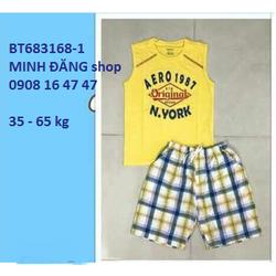 Bộ thun quần caro từ 35 - 65kg