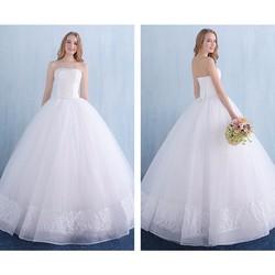 Áo cưới công chúa, cúp ngực thân áo có đính pha lê