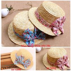 nón đi biển, mũ đi biển, nón cói thắt nơ thời trang 2017