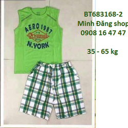 Bộ áo thun quần caro từ 35-65kg