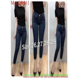 Quần jean nữ lưng cao ống ôm dạng lửng sành điệu QD311