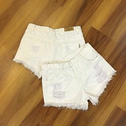 Quần sort jean rách trắng