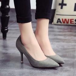 Giày cao gót bít cổ điển màu mới - hàng đẹp