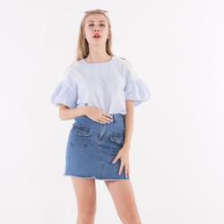 Váy jean túi nắp