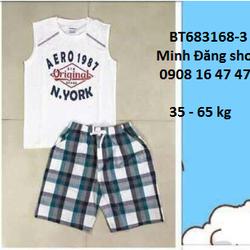 Bộ áo thun quần caro từ 35 - 65 kg