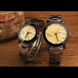 Đồng hồ cặp Yazole dây thép hai người nắm tay
