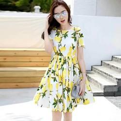 Đầm Hoa Xòe 3D Mùa Xuân