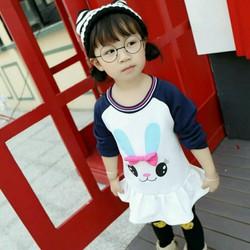 Áo váy thỏ bé gái