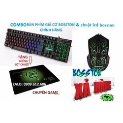 Combo bàn phím chuột led giả cơ Bosston chính hãng