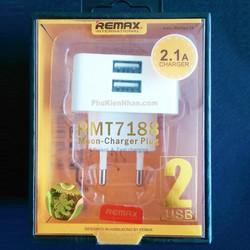 Adapter 2 cổng USB 2.1 A chính hãng Remax