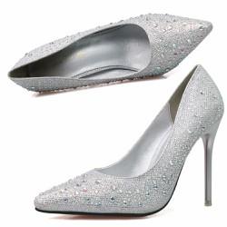 Giày cao gót đính hạt sang chảnh cho nàng dự tiệc thêm quyến rủ - 110