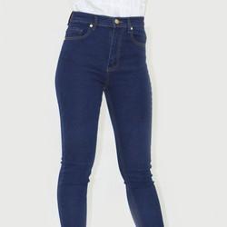 Quần Jeans lưng cao trơn dài Thái Lan