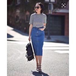 Chân Váy jeans CAO CẤP